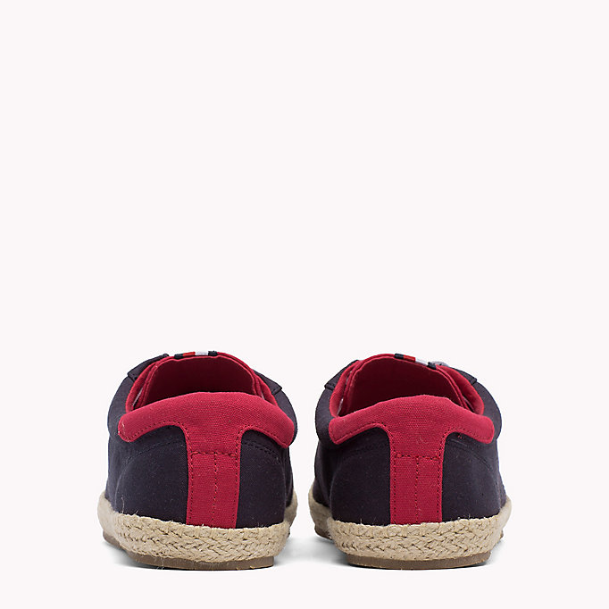 TOMMY HILFIGER Lace-Up Cotton Espadrilles - WHITE - TOMMY HILFIGER Shoes - detail image 2