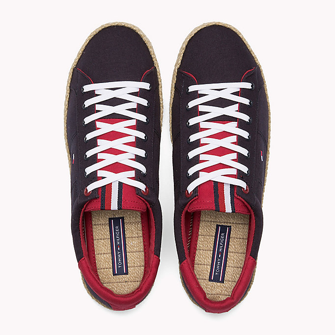 TOMMY HILFIGER Lace-Up Cotton Espadrilles - WHITE - TOMMY HILFIGER Men - detail image 3