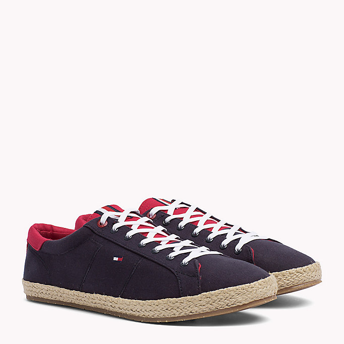 TOMMY HILFIGER Lace-Up Cotton Espadrilles - WHITE - TOMMY HILFIGER Shoes - main image