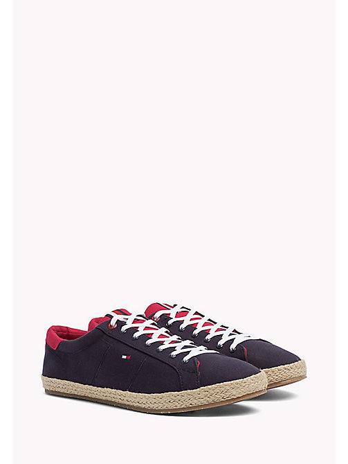 TOMMY HILFIGER Lace-Up Cotton Espadrilles - MIDNIGHT - TOMMY HILFIGER MEN - main image