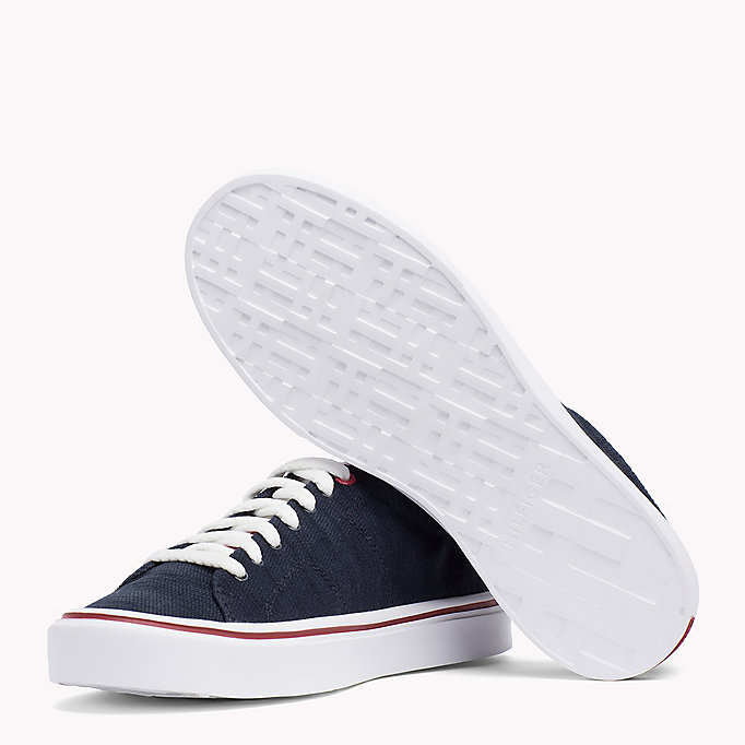 TOMMY HILFIGER Lightweight Knit Textile Trainers - TANGO RED - TOMMY HILFIGER Shoes - detail image 1