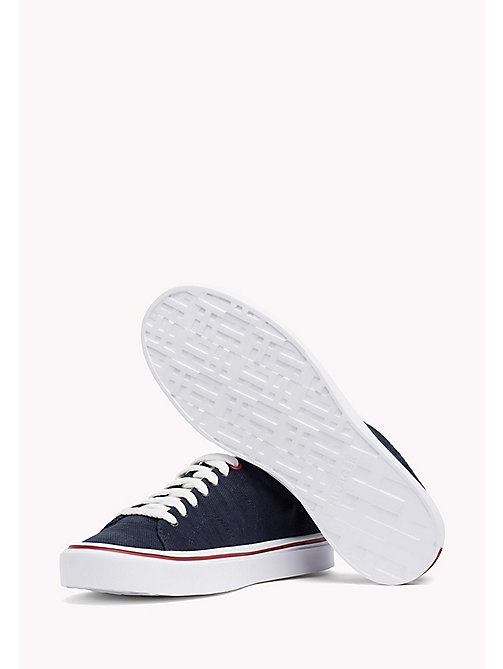 TOMMY HILFIGER Lightweight Knit Textile Trainers - MIDNIGHT - TOMMY HILFIGER Summer shoes - detail image 1