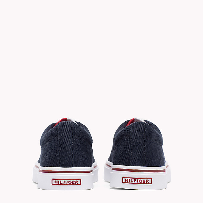 TOMMY HILFIGER Lightweight Knit Textile Trainers - TANGO RED - TOMMY HILFIGER Shoes - detail image 2