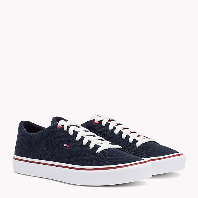 TOMMY HILFIGER Lightweight Knit Textile Trainers - TANGO RED - TOMMY HILFIGER Men - main image