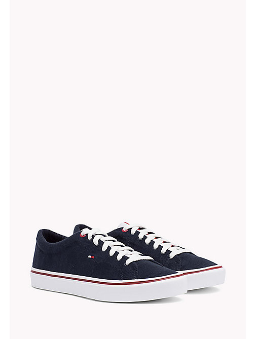 TOMMY HILFIGER Lightweight Knit Textile Trainers - MIDNIGHT - TOMMY HILFIGER Trainers - main image