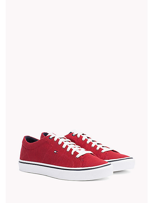 TOMMY HILFIGER Lightweight Knit Textile Trainers - TANGO RED - TOMMY HILFIGER Shoes - main image