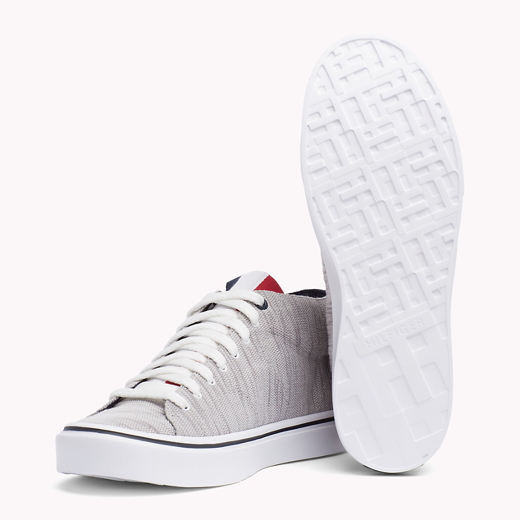 Textile Mid-Cut Trainer - Sales Up to -50% Tommy Hilfiger Uae6xNWx