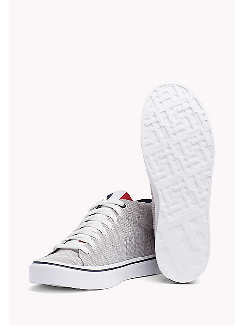 TOMMY HILFIGER Textile Mid-Cut Trainer - DIAMOND GREY - TOMMY HILFIGER Trainers - detail image 1