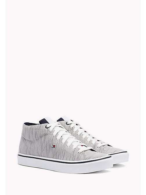 TOMMY HILFIGER Textile Mid-Cut Trainer - DIAMOND GREY - TOMMY HILFIGER Trainers - main image