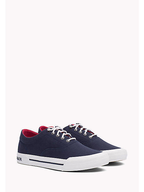 TOMMY HILFIGER Textile Heritage Trainers - TOMMY NAVY - TOMMY HILFIGER Sustainable Evolution - main image