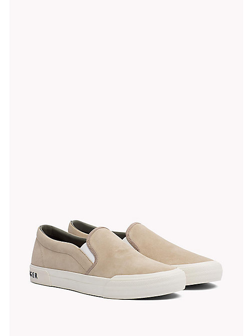 Suede Slip-On Trainers - SAND - TOMMY HILFIGER Shoes - main image