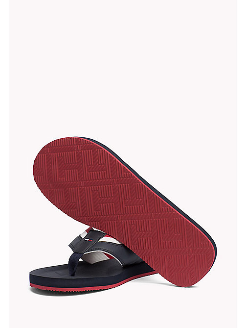 TOMMY HILFIGER Leather Look Flip-Flops - MIDNIGHT - TOMMY HILFIGER Sandals & Flip Flops - detail image 1