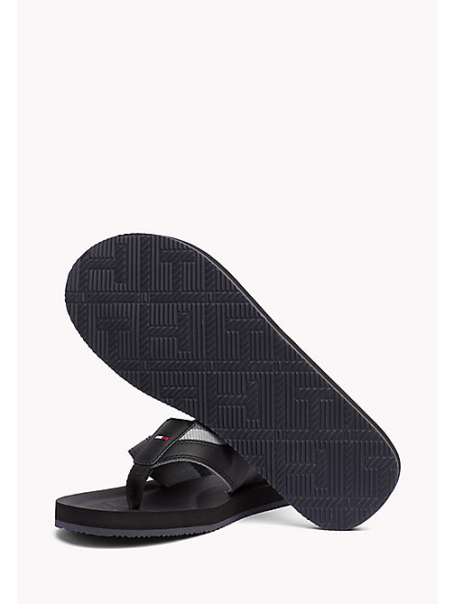 TOMMY HILFIGER Leather Look Flip-Flops - BLACK - TOMMY HILFIGER Summer shoes - detail image 1