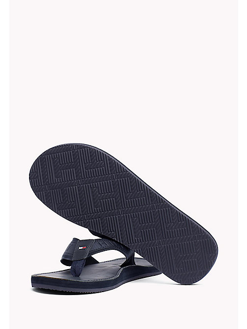 TOMMY HILFIGER Leather Flip-Flops - MIDNIGHT - TOMMY HILFIGER Sandals & Flip Flops - detail image 1