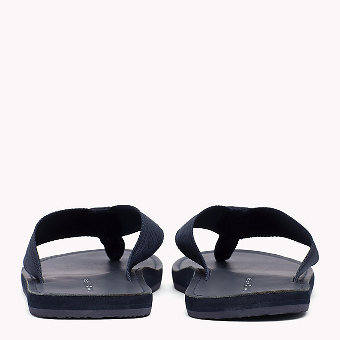 TOMMY HILFIGER Leather Flip-Flops - BLACK - TOMMY HILFIGER Shoes - detail image 2