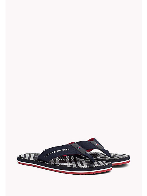 TOMMY HILFIGER Textured Beach Sandals - MIDNIGHT - TOMMY HILFIGER Sandals & Flip Flops - main image