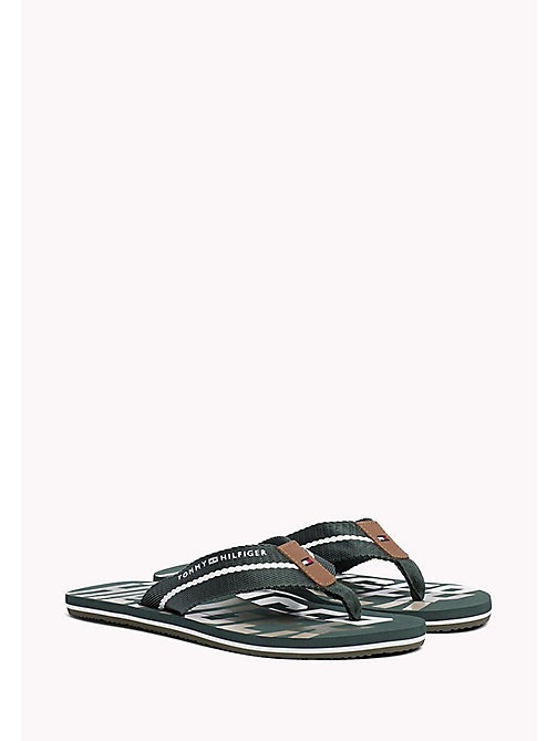 TOMMY HILFIGER Signature Colour Beach Sandals - JUNGLE GREEN - TOMMY HILFIGER Sandals & Flip Flops - main image