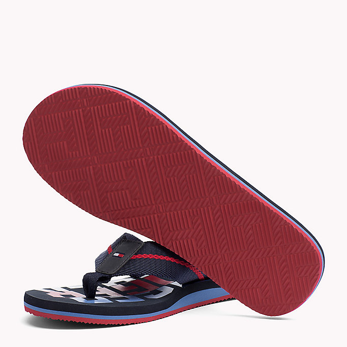 TOMMY HILFIGER Signature Colour Beach Sandals - BLACK - TOMMY HILFIGER Shoes - detail image 1