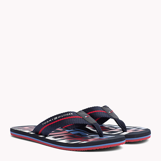 TOMMY HILFIGER Signature Colour Beach Sandals - BLACK - TOMMY HILFIGER Shoes - main image