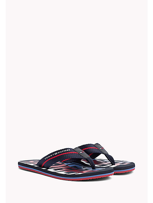 TOMMY HILFIGER Signature Colour Beach Sandals - MIDNIGHT - TOMMY HILFIGER Sandals & Flip Flops - main image