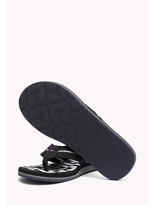 TOMMY HILFIGER Signature Colour Beach Sandals - BLACK - TOMMY HILFIGER Summer shoes - detail image 1