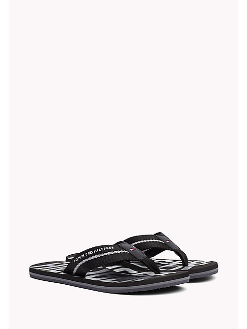 TOMMY HILFIGER Signature Colour Beach Sandals - BLACK - TOMMY HILFIGER Summer shoes - main image