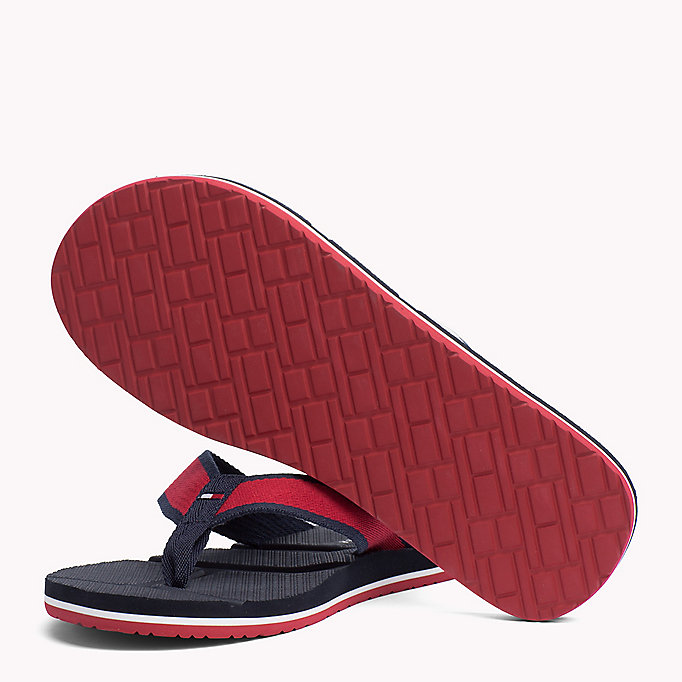 TOMMY HILFIGER Flag Flip-Flops - MIDNIGHT - TOMMY HILFIGER Men - detail image 1