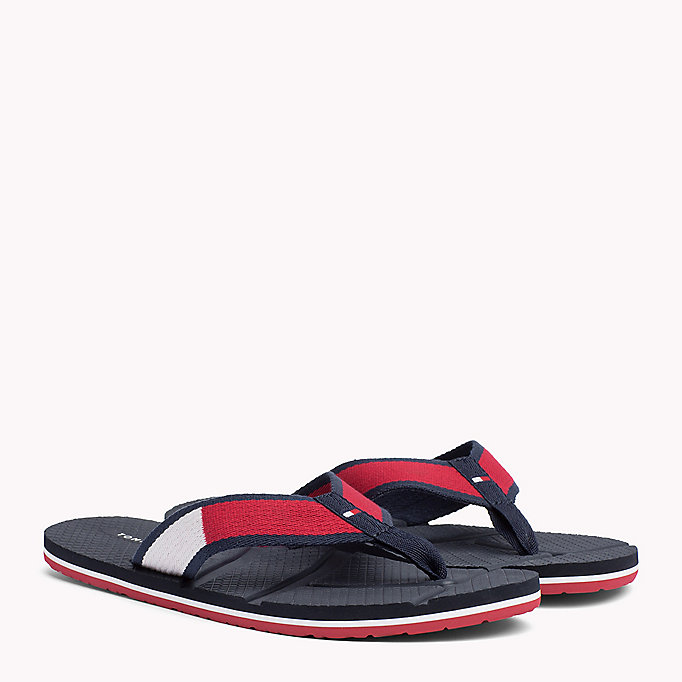 TOMMY HILFIGER Flag Flip-Flops - MIDNIGHT - TOMMY HILFIGER Men - main image