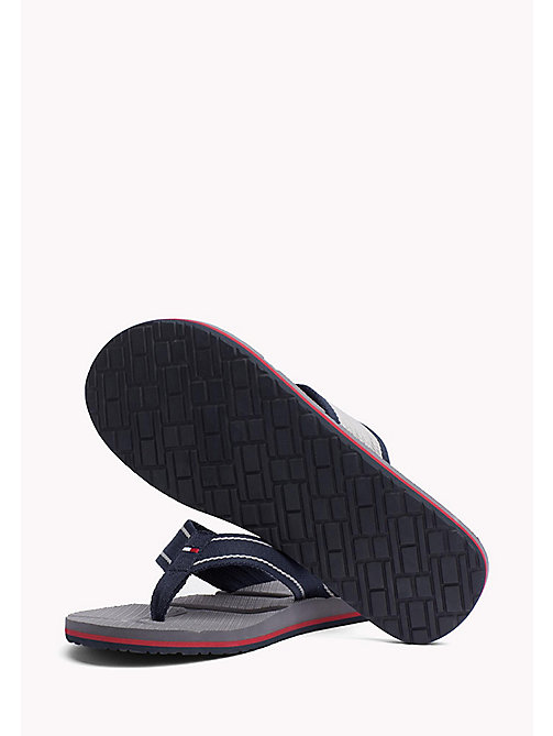 TOMMY HILFIGER Flag Flip-Flops - MIDNIGHT - TOMMY HILFIGER Summer shoes - detail image 1