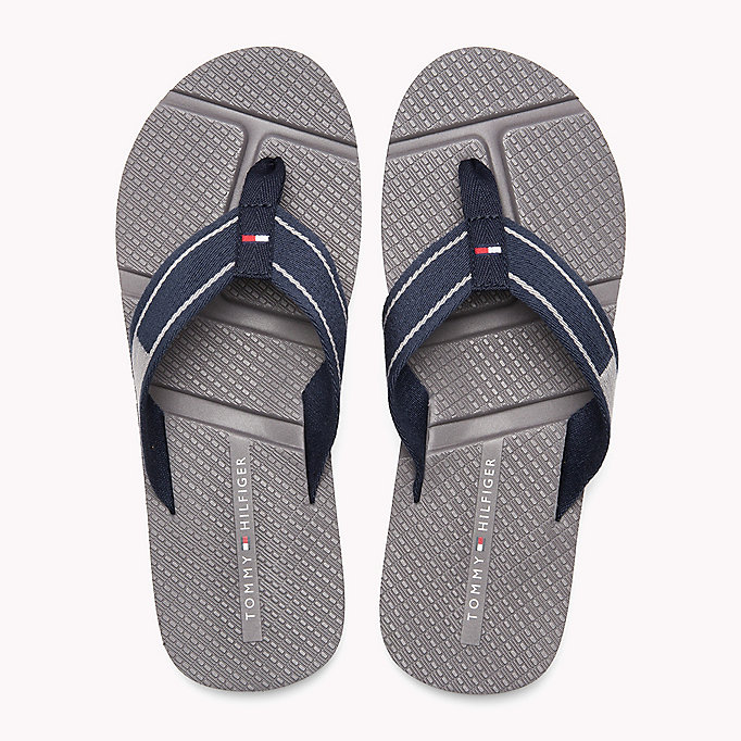 TOMMY HILFIGER Flag Flip-Flops - BLACK - TOMMY HILFIGER Men - detail image 3