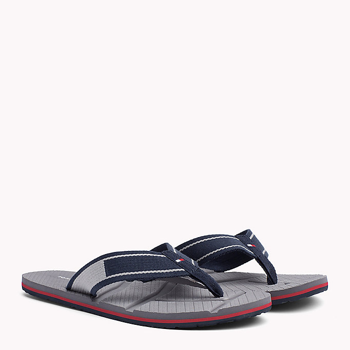 TOMMY HILFIGER Flag Flip-Flops - BLACK - TOMMY HILFIGER Men - main image