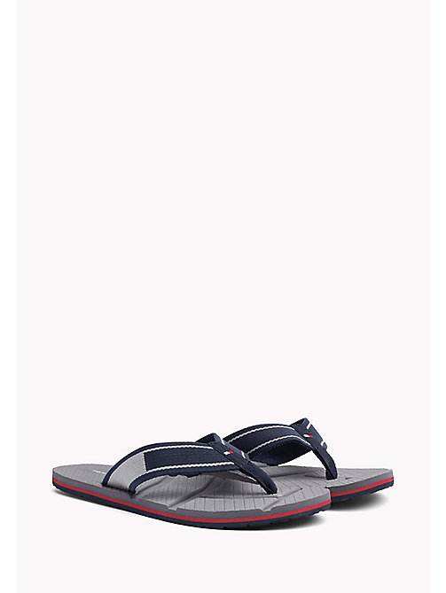 TOMMY HILFIGER Flag Flip-Flops - MIDNIGHT - TOMMY HILFIGER Summer shoes - main image