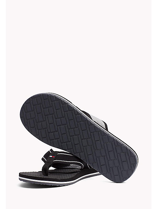 TOMMY HILFIGER Flag Flip-Flops - BLACK - TOMMY HILFIGER Summer shoes - detail image 1