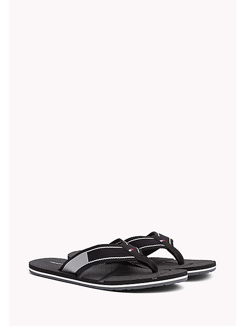 TOMMY HILFIGER Flag Flip-Flops - BLACK - TOMMY HILFIGER Summer shoes - main image