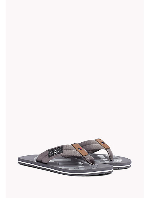 TOMMY HILFIGER Tommy Beach Sandals - STEEL GREY - TOMMY HILFIGER Sandals & Flip Flops - main image