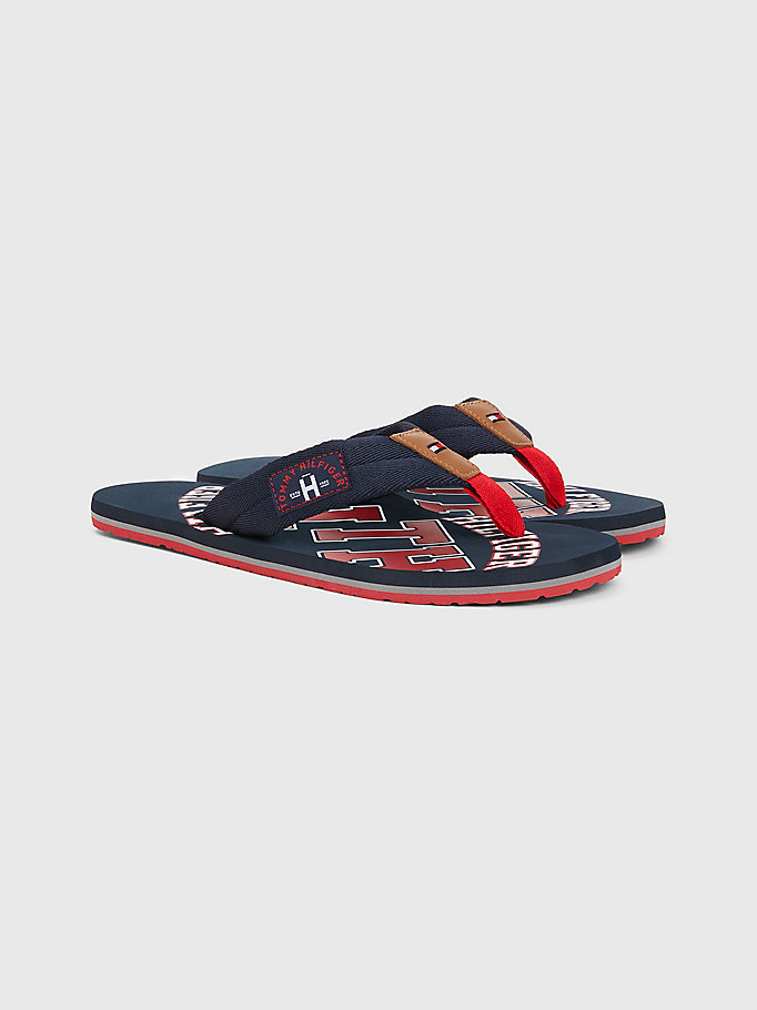 blue tommy beach sandals for men tommy hilfiger