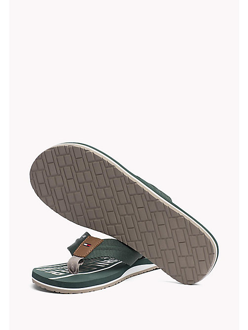 TOMMY HILFIGER Signature Flip-Flops - JUNGLE GREEN - TOMMY HILFIGER Shoes - detail image 1