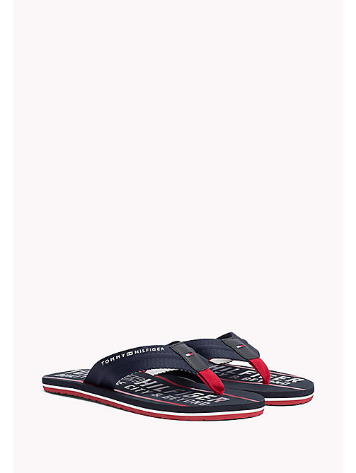 TOMMY HILFIGER Sygnowane japonki - MIDNIGHT - TOMMY HILFIGER Summer shoes - main image