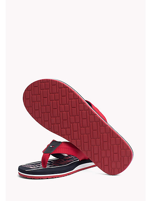 TOMMY HILFIGER Signature Flip-Flops - TANGO RED - TOMMY HILFIGER Sandals & Flip Flops - detail image 1