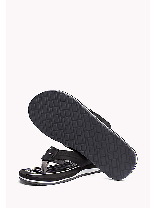 TOMMY HILFIGER Signature Flip-Flops - BLACK - TOMMY HILFIGER Summer shoes - detail image 1
