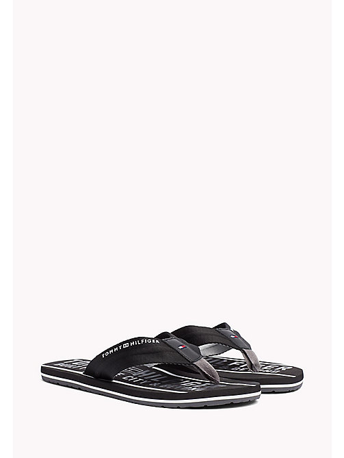 TOMMY HILFIGER Signature Flip-Flops - BLACK - TOMMY HILFIGER Summer shoes - main image