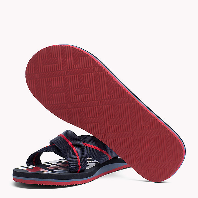 TOMMY HILFIGER Cross Strap Beach Sandals - BLACK - TOMMY HILFIGER Men - detail image 1
