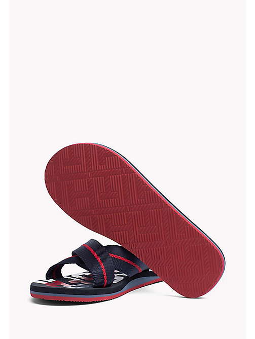 TOMMY HILFIGER Cross Strap Beach Sandals - MIDNIGHT - TOMMY HILFIGER Summer shoes - detail image 1