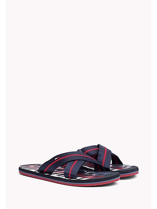 TOMMY HILFIGER Cross Strap Beach Sandals - MIDNIGHT - TOMMY HILFIGER Sandals & Flip Flops - main image