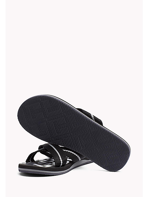 TOMMY HILFIGER Cross Strap Beach Sandals - BLACK - TOMMY HILFIGER Summer shoes - detail image 1