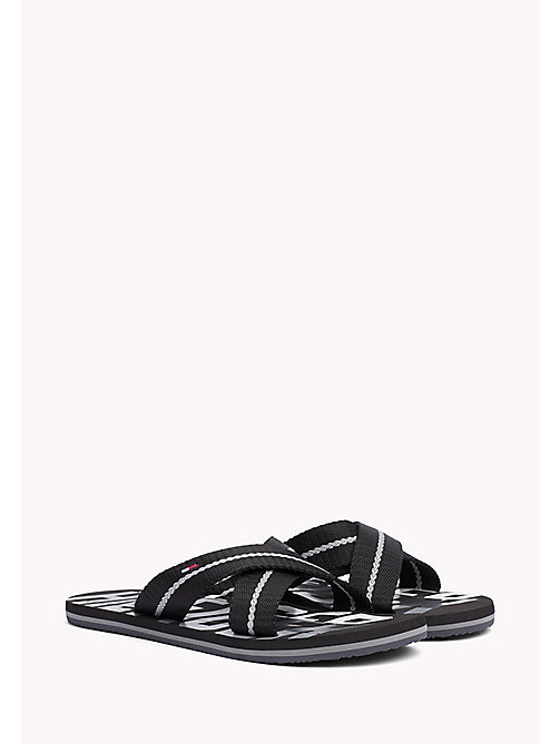 TOMMY HILFIGER Cross Strap Beach Sandals - BLACK - TOMMY HILFIGER Sandals & Flip Flops - main image