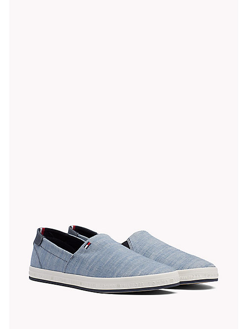 TOMMY HILFIGER Denim Slip-On Trainers - JEANS - TOMMY HILFIGER Best Sellers - main image