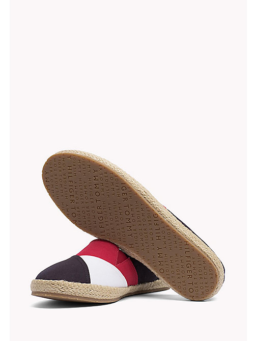 TOMMY HILFIGER Bawełniane espadryle - MIDNIGHT - TOMMY HILFIGER Summer shoes - detail image 1