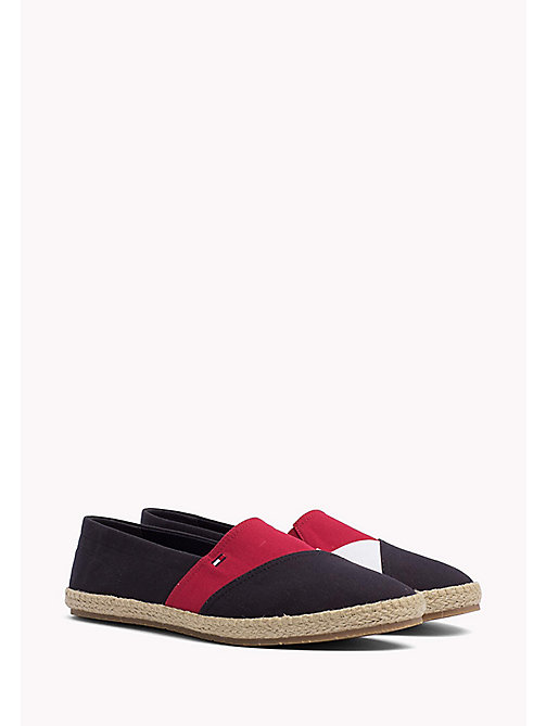TOMMY HILFIGER Bawełniane espadryle - MIDNIGHT - TOMMY HILFIGER Summer shoes - main image