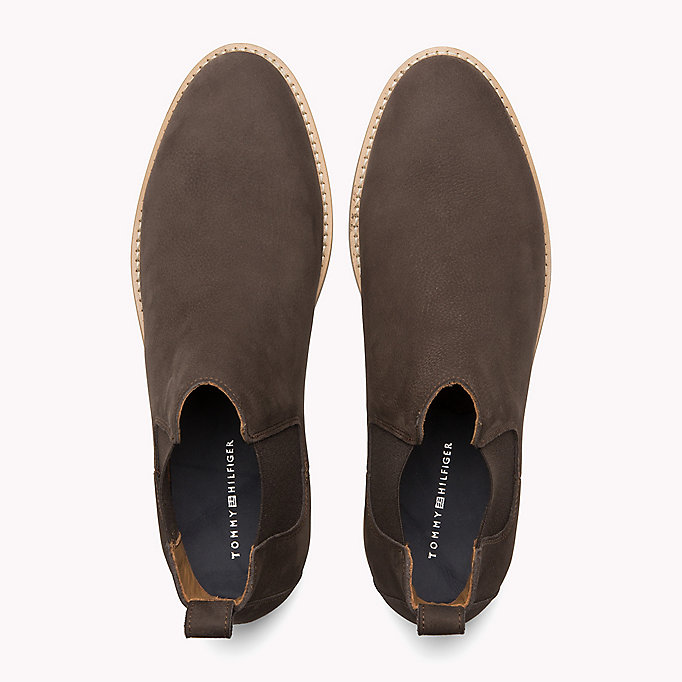 TOMMY HILFIGER Suede Chelsea Boots - MIDNIGHT - TOMMY HILFIGER Shoes - detail image 3